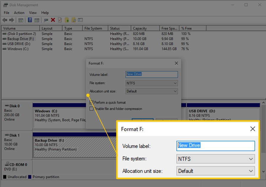 How to format a hard drive in Windows 10